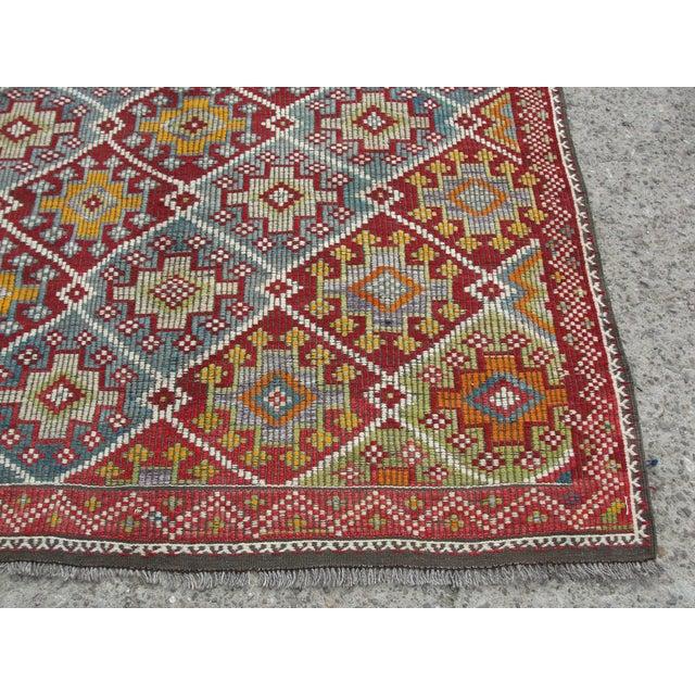 Vintage Turkish Kilim Rug - 5′8″ × 10′4″ For Sale - Image 5 of 11