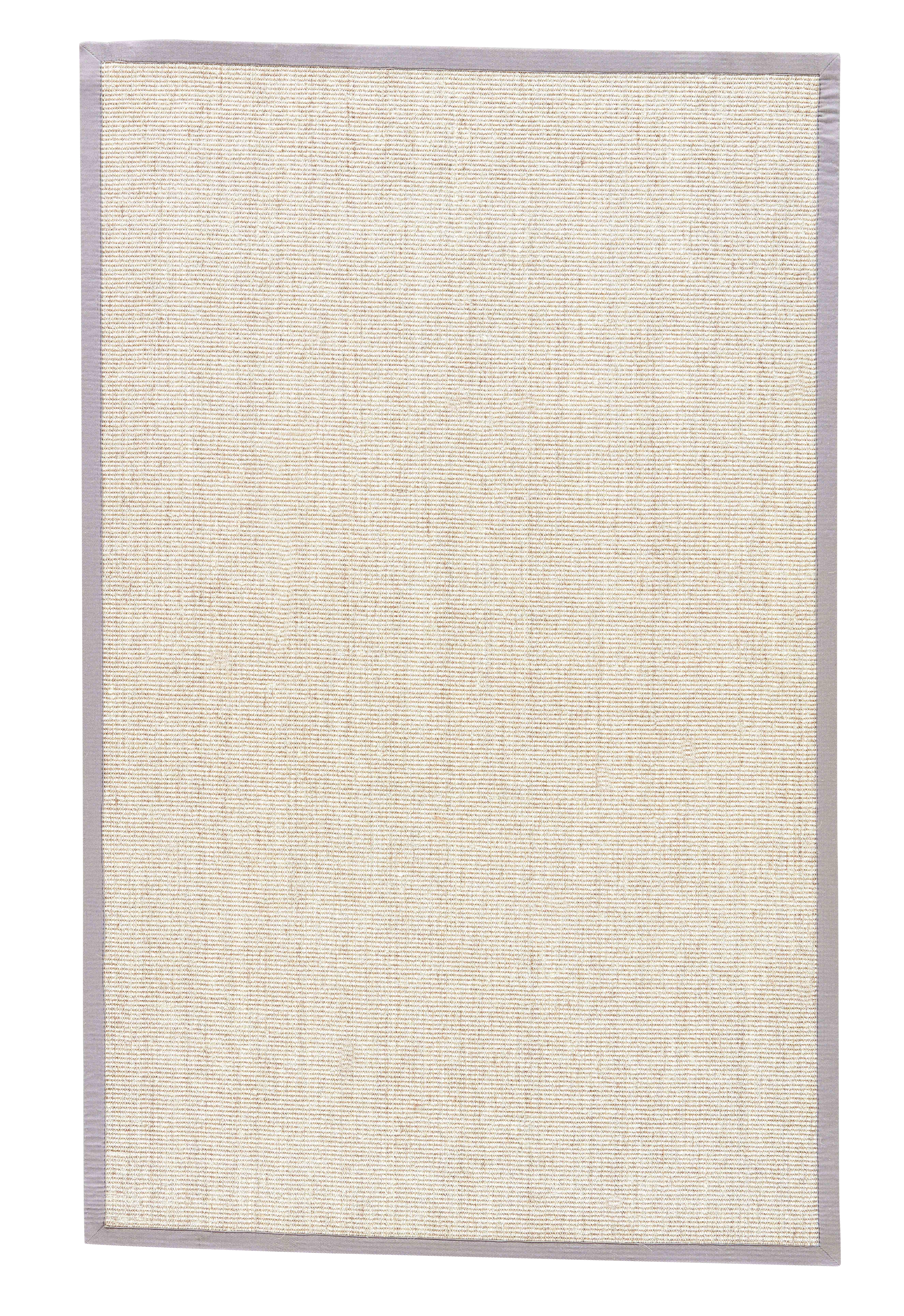 Jaipur Living Palm Beach Natural Bordered Beige & Gray Area Rug - 8' X 10' For Sale