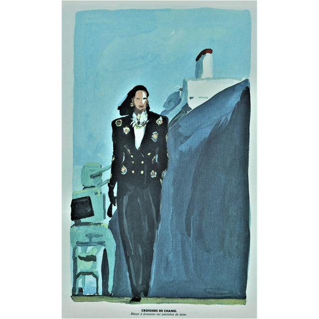 1980s Matted Vintage Chanel Print 1980s For Sale - Image 5 of 5