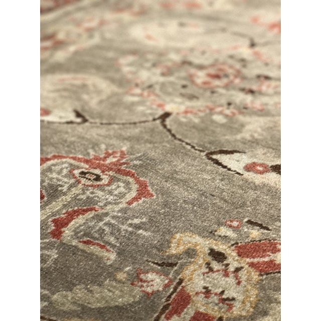 "Bellwether Rugs Antique Turkish Oushak Rug - 4'3""x6'2"" - Image 8 of 10"