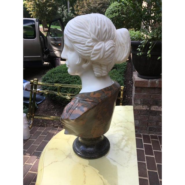 1990s Vintage Marble Classical Sculpture For Sale In Raleigh - Image 6 of 9