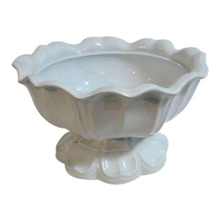 19thc English Ironstone Fruit Pedistal Compote For Sale