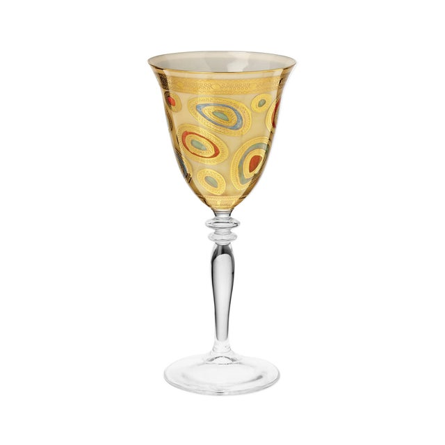 Kenneth Ludwig Chicago Vietri Regalia Cream Wine Glass from Kenneth Ludwig Home For Sale - Image 4 of 4