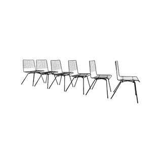 Pacific Iron Dining Chairs by John Keal For Sale