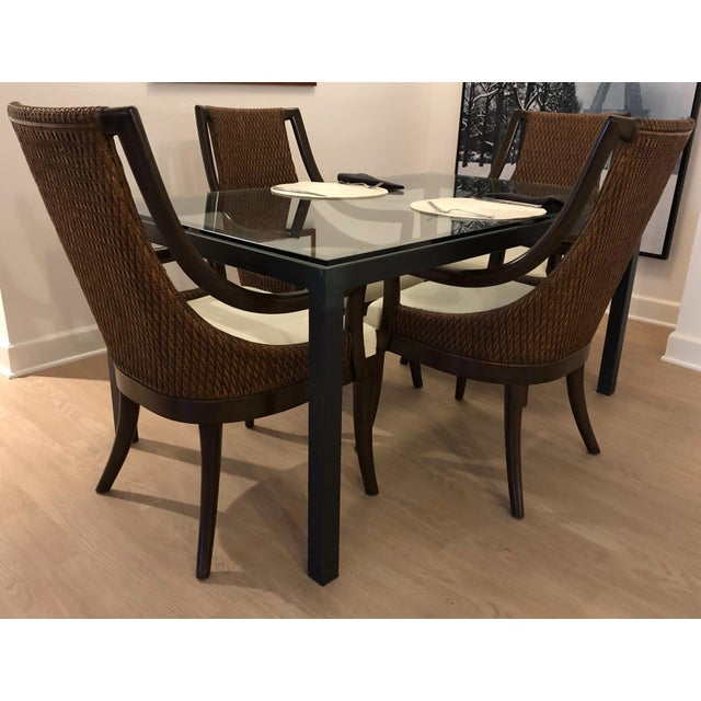 2000 - 2009 Modern Dining Arm Chairs - A Set of 4 For Sale - Image 5 of 8