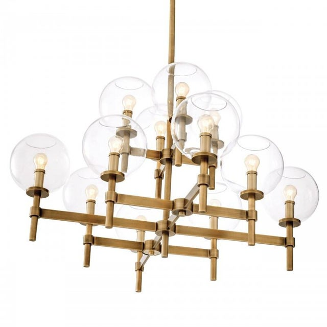 Mid-Century Modern Vintage Al0148 Jade Chandelier For Sale - Image 3 of 5