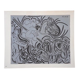 "Vintage Picasso Lithograph-""Pique"" For Sale"