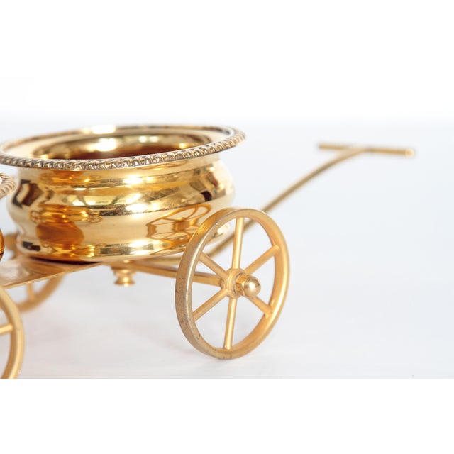 Bronze Gilt Bronze Wine Decanter Wagon Trolley For Sale - Image 7 of 11