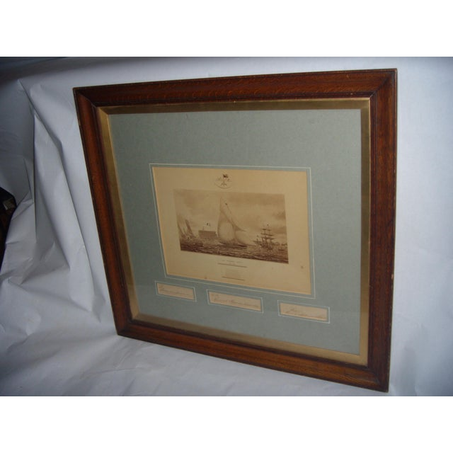 Framed Photo of The Terrible Fiona Yacht, 1899 - Image 4 of 11