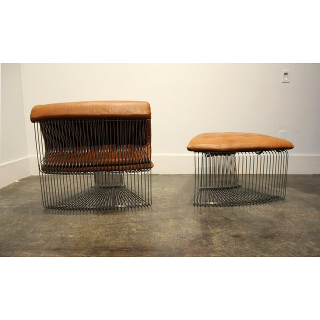 Fritz Hansen Verner Panton for Fritz Hansen Pantonova Leather Lounge Chair and Ottoman For Sale - Image 4 of 12