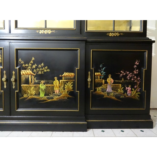 Vintage Gold Leaf Hand-Painted China Cabinet - Image 6 of 6