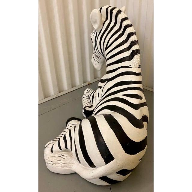 Safari 1960s Black & White Zebra Floor Sculpture For Sale - Image 3 of 9