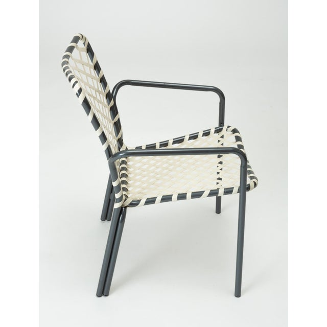 Gray Set of Eight Patio Dining Chairs by Ames Aire For Sale - Image 8 of 9
