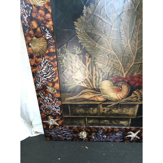 Trompe L'oiel Painting of Underwater Scene For Sale - Image 4 of 11