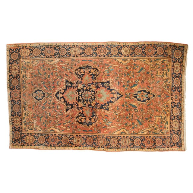 "Antique Farahan Sarouk Persian Rug - 3'10"" X 6'6"" For Sale - Image 13 of 13"