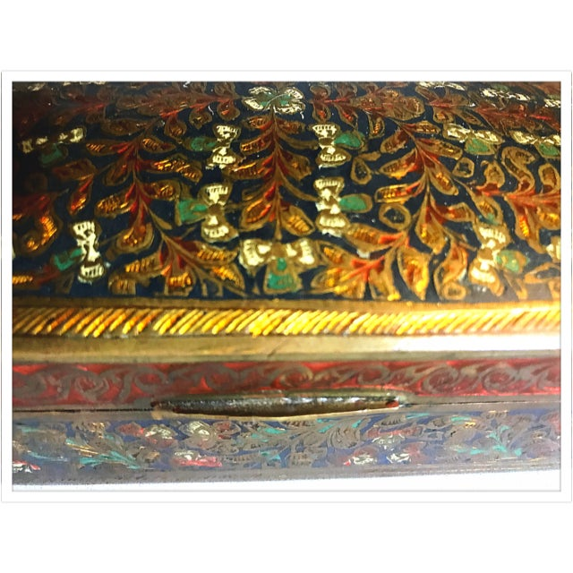 Antique French Enamel Champleve Box For Sale - Image 5 of 11