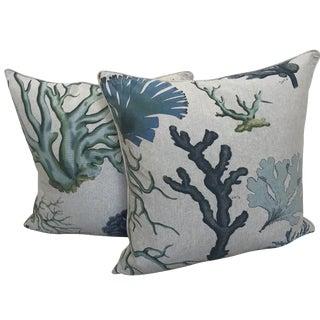 Beach Linen Pillows - A Pair