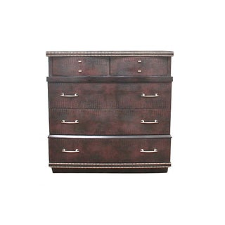 Mid Century Faux Crocodile Chest of Drawers by United Furniture Corporation Preview
