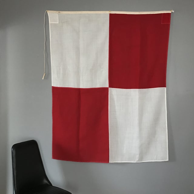 "Vintage Nautical Flag Signal ""U"" - Image 5 of 5"