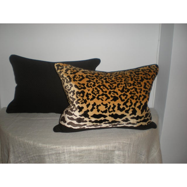 Bespoke Scalamandre Silk Leopardo & Mohair Pillows - Image 5 of 6