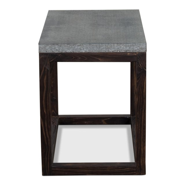 Reclaimed Elm, Zinc - Burnt Elm Finish 4 available, priced each. Retail price is $585.
