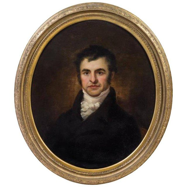 Portraiture Artist Unknown 19th Century Portrait of Robert Burns Oil on Canvas For Sale - Image 3 of 4