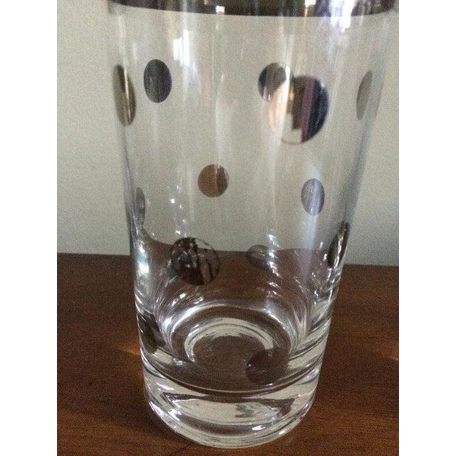 Dorothy Thorpe Silver Rim Polka Dot Glass - A Pair - Image 4 of 4