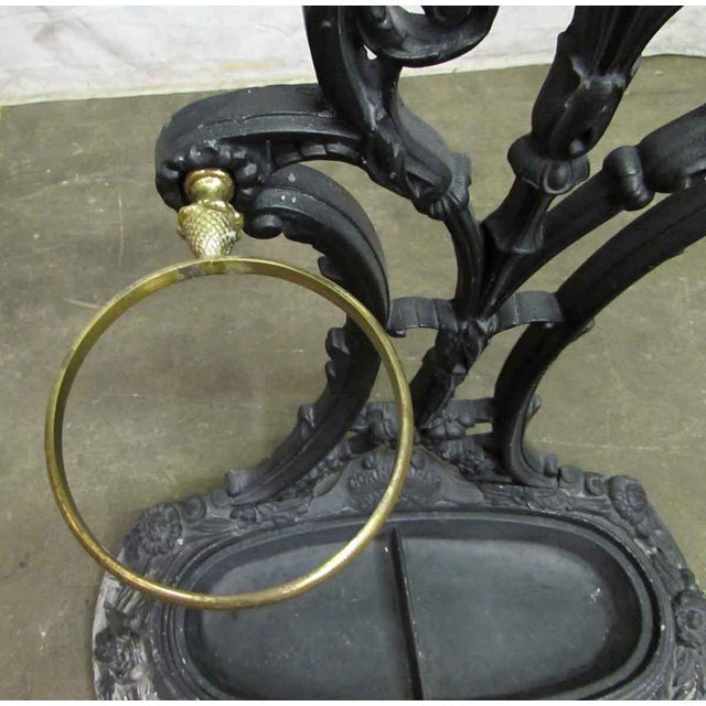 Ornate Cast Iron Hall Tree For Sale - Image 5 of 10