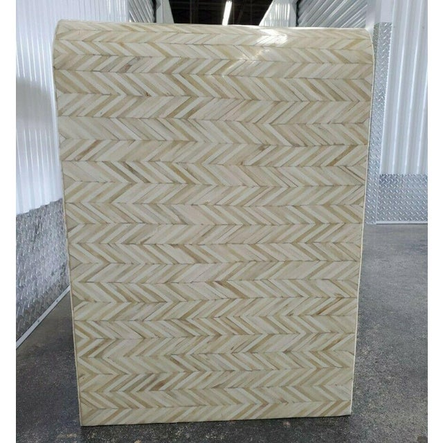 1970s Tessellated Bone Nightstand With Drawer For Sale - Image 11 of 13