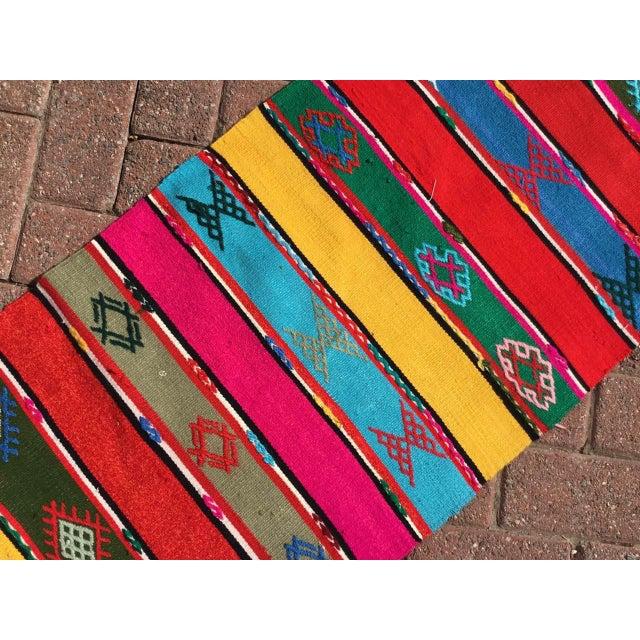 Acrylic Colorful Turkish Kilim Rug For Sale - Image 7 of 9