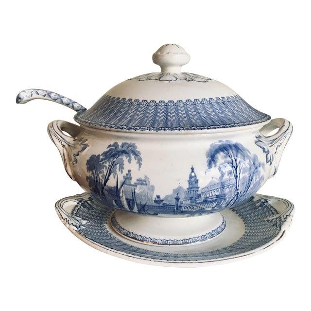 "Soho Pottery ""Pandora"" Pattern Soup Tureen C.1906 For Sale"