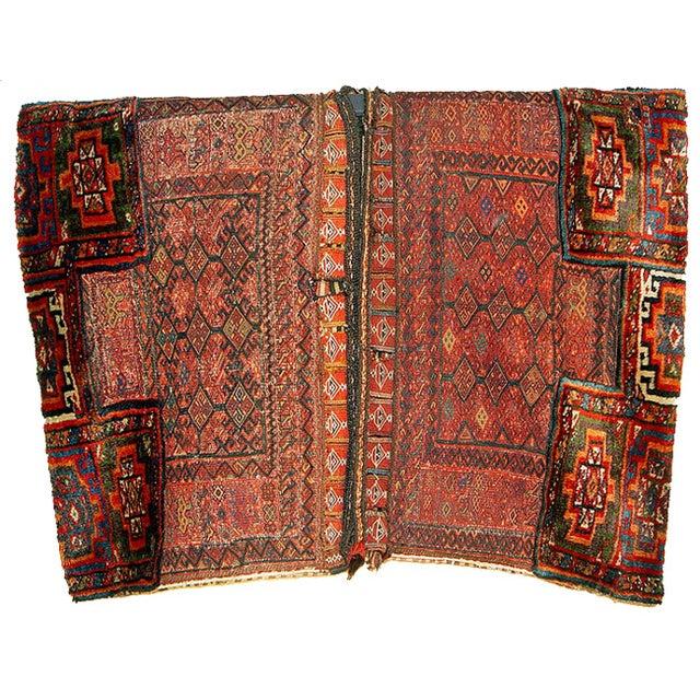 Old Persian Bakhtiari Soumak Khorjin Saddle Bag - Image 1 of 10