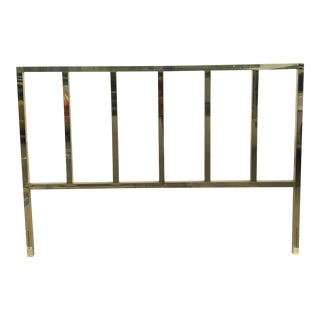Late 20th Century Brass King Size Headboard For Sale