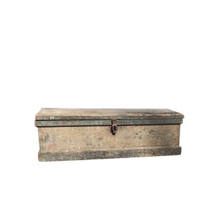 Antique American Distressed Navy Blue Chest