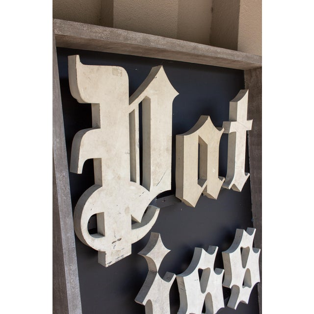Early 20th Century Antique French Parisian Shop Sign For Sale - Image 11 of 12