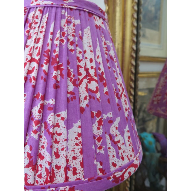 Custom Maison Maison Gathered Lamp Shades For Sale - Image 4 of 5