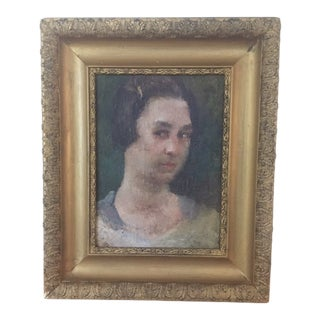 Early 20th Century Portrait of a Lady Oil Painting, Framed For Sale