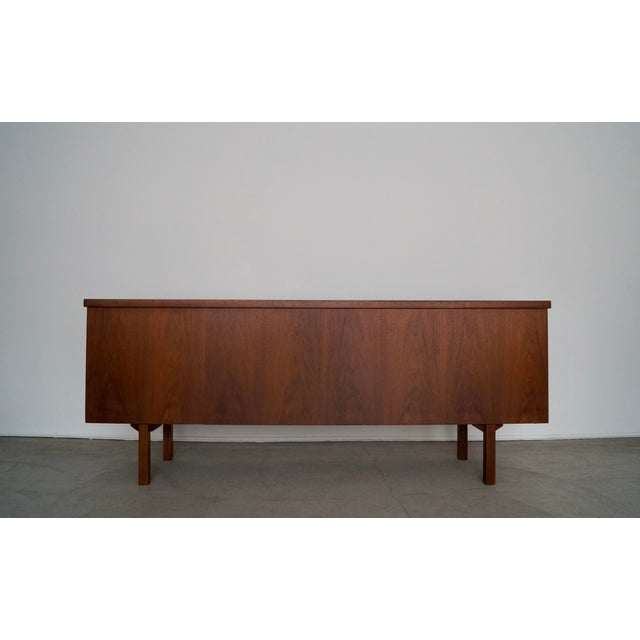 1960s 1960s Mid-Century Modern Refinished Walnut Credenza For Sale - Image 5 of 13