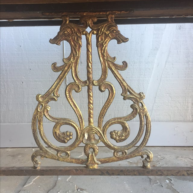 Gold Oscar Bach Bronze and Iron Bench For Sale - Image 8 of 10