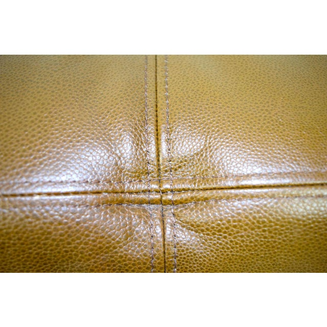 "Custom Bench in Great Plains ""Stingray"" leather with Paris Seam stitching For Sale - Image 9 of 9"