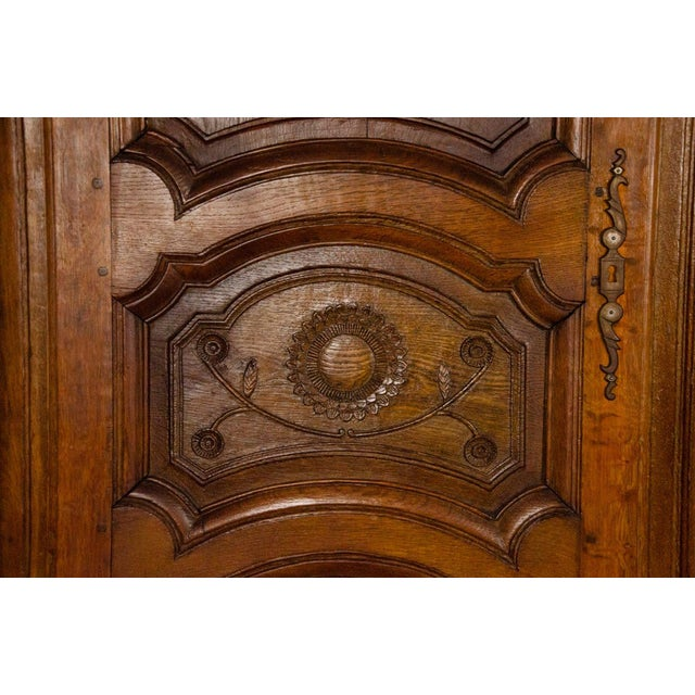 19th Century Louis XV Antique French Carved Armoire For Sale In Atlanta - Image 6 of 13