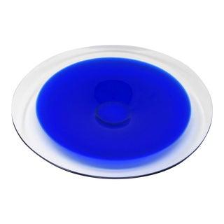 1960s Maleras Signed Cobalt Crystal Decorative Bowl For Sale