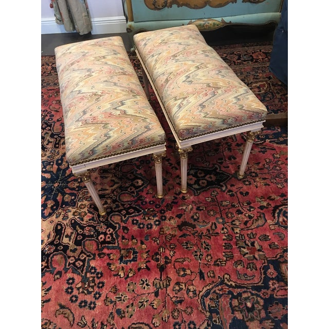1960s Louis XVI Benches - a Pair For Sale - Image 5 of 7