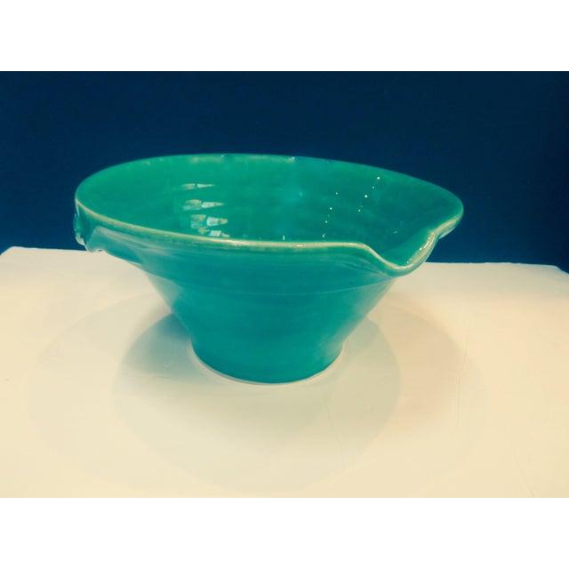 Large Sage Green Mixing Ceramic Bowl - Image 2 of 6