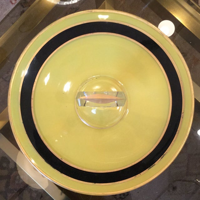 Yellow and Black Art Deco Serving Dish - Image 3 of 8