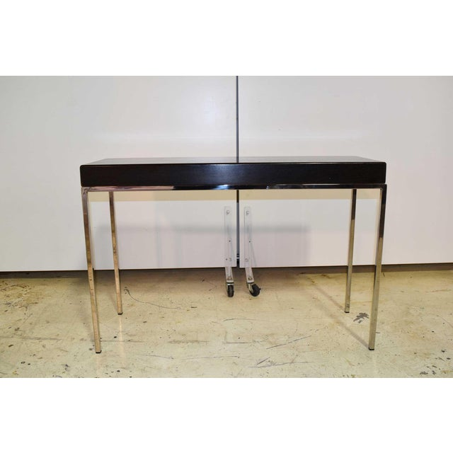 Swaim Modern Wood Top Side Table For Sale In Dallas - Image 6 of 6