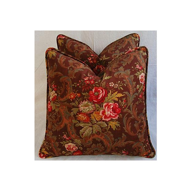 Custom American Folk Kings Floral Pillows - Pair For Sale In Los Angeles - Image 6 of 9