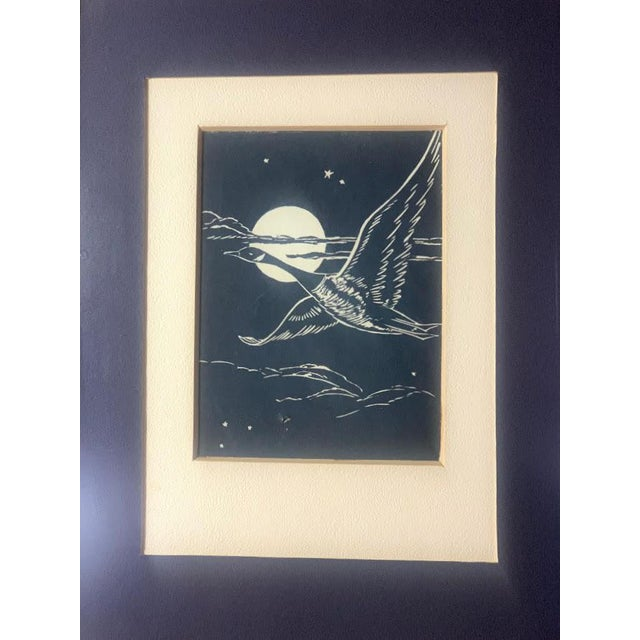 Figurative Gwen Frostic Goose Block Print For Sale - Image 3 of 7
