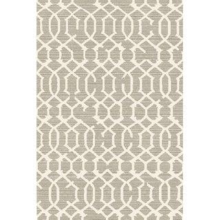 Lattice Gray Rug -- 5'3'' x 7'7''