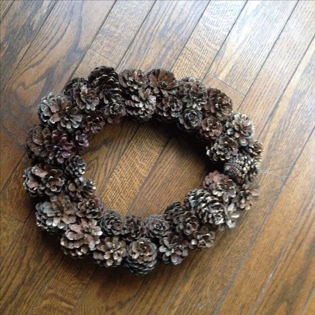 Vintage Natural Pinecone Wreath - Image 9 of 11